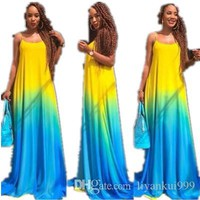 Women Summer Dresses Color Changing Printed Dresses Sexy Fashion Sling Maxi Dress Casual Plus Size Club Party Evening Clothing S-5XL