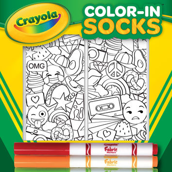 Color-In Socks Stickers