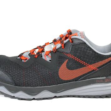 Nike Men's Dual Fusion Trail Black/Red Running Shoes 652867 004