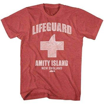 Mens Jaws Amity Lifeguard Retro T-Shirt