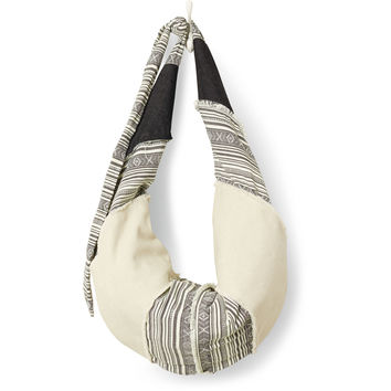 TOMS natural mixed fabric seaside hobo bag