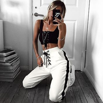 Casual Winter Hot Sale Stripes Sports Pants [72661991439]