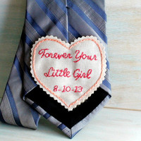 Father of the Bride Gift. Father of the Bride. Tie. Gift for Dad. Embroidered Tie Patch. Wedding Embroidery. Wedding. Mens Ties. Man Tie.