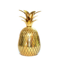 Pineapple Bar Brass Pineapple Pineapple Box Gold Pineapple Pineapple Decor Ananas Wedding Decor Pineapples