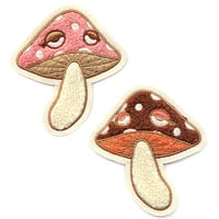 Chenille Mushrooms Patch Set