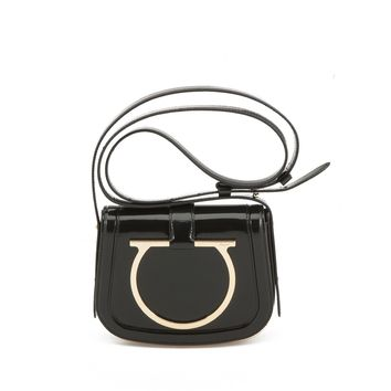 Salvatore Ferragamo Salvatore Ferragamo Patent Leather Crossbody Bag - Shout