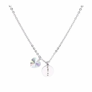 Dainty Inspirational Necklace made with Crystals from Swarovski -  EXCLAMATION 65b5e37cfc