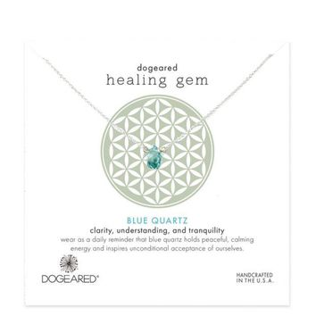 dogeared Lasting Healing Gems blue quartz necklace Day-First™