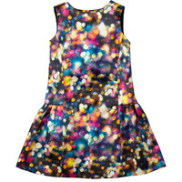 Glitter Bow Party Dress, Multi, Sizes 2-7 - Milly Minis