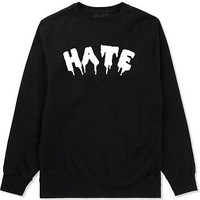 Kings Of NY Hate Goth Blood Font Crewneck Sweatshirt