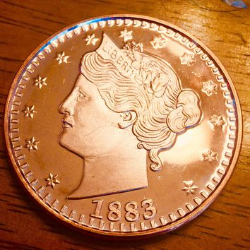 1883 1oz Liberty V Nickel Commemorative Coin