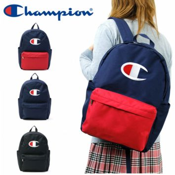 Champion New fashion embroidery big logo backpack bag canvas bag