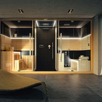 Sauna / turkish bath SASHA by Jacuzzi Europe | design Alberto Apostoli