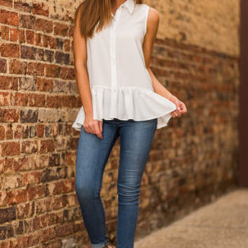In A Girl's World Top, Ivory