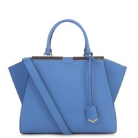3Jours small leather trapeze tote