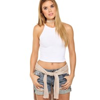 White All Yours Crop Top