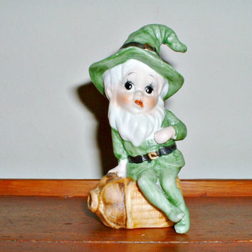 Vintage Leprechaun Figurine St. Patrick's Day  Elf Pixie Lucky Irish