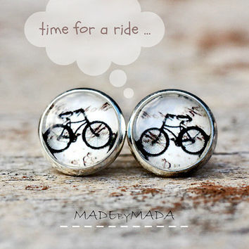 BikeStuds post Earrings Fun Jewelery, Free Shipping from MADEbyMADA