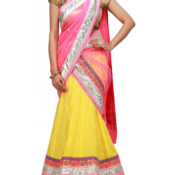 Beautiful Party wear lehenga choli in yellow color