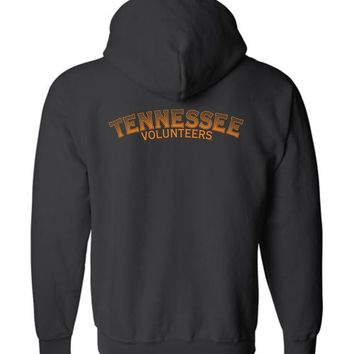 Official NCAA University of Tennessee Volunteers, Knoxville Vols UT UTK Women's Bubble Print Zip Hoodie - 35TN-30