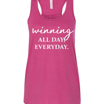 WWOW - WINNING All Day Every Day - Ruffles with Love - Inspirational Shirt - RWL