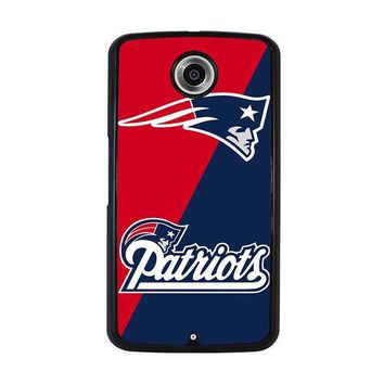 new england patriots nexus 6 case cover  number 1