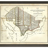 One Kings Lane - Family Roots - State Map of Washington DC