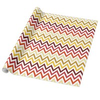 Autumn Chevron Pattern Wrapping Paper