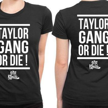 CREYH9S Wiz Khalifa Taylor Gang 2 Sided Womens T Shirt