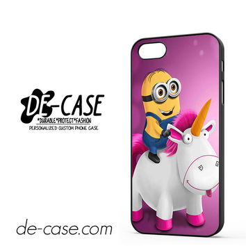 Minion Despicable Me Unicorn Pink For Iphone 5 Iphone 5S Case Phone Case Gift Present