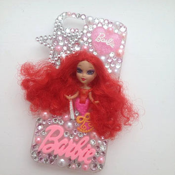 Barbie Mini B Little Mermaid Bling iPhone 5 Protective Cell Phone Case Cover