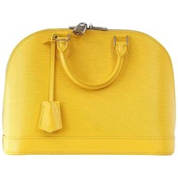LOUIS VUITTON Bag Alma Citron Yellow Epi Leather