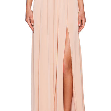 BLAQUE LABEL Maxi Skirt in Nude