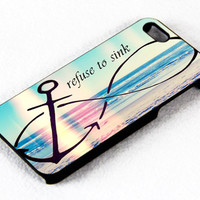 Anchor Infinity I refuse To Sink iPhone 4 / 4s iPhone 5 case Samsung Galaxy s3 Samsung Galaxy s4