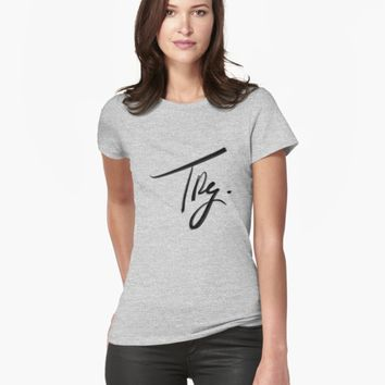 "'""Try."" hand drawn lettering' T-Shirt by BillOwenArt"