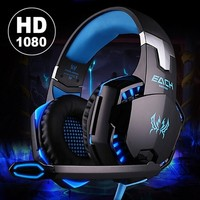 Noise Cancelling Gaming Headset Auricular  / Over Ear Game Gaming Headphone Headset Earphone Kopfhörer with Mic Stereo Bass LED