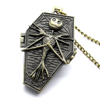The Burton's Nightmare Before Christmas Necklace Pocket Watch