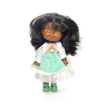 Apple Amy Doll Cherry Merry Muffin Friend African American Girl with Mint Green Dress