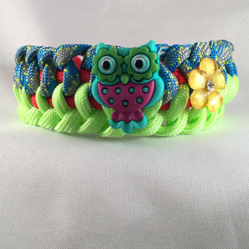 Owlfonso The Owl - Children Paracord Heaven Survival Bracelet with Knot Closure