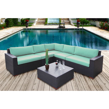 Coral Gables 6 Piece Modular Sectional Patio Set Multiple Colors
