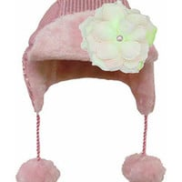Jamie Rae Hats Pale Pink Sequin Flower Beanie | Something special every day