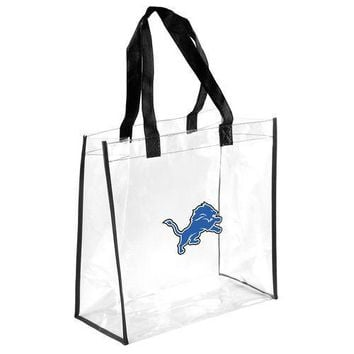 Detroit Lions Clear Reusable Plastic Tote Bag NFL 2017 Stadium Approved