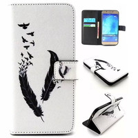 Bird Feather Leather Case Cover for iPhone & Samsung Galaxy