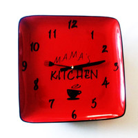 Personalized Modern Kitchen Plate Clock, Home Decor, Wall Clock, Personalized Gifts