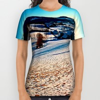 Smooth hills in winter wonderland All Over Print Shirt by Patrick Jobst | Society6