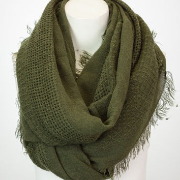 Olive Infinity Scarf