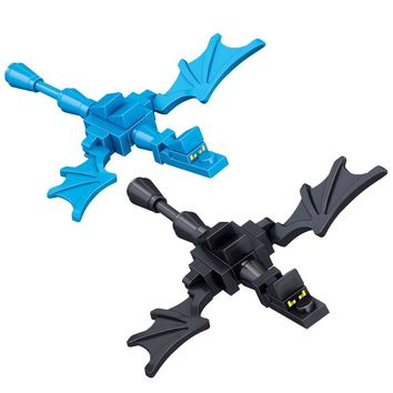2Pcs/Lot  Mini Dragon Compatible with  Legoing Minecrafted Block Set  Building Brick Toy For Kids