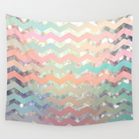 New World Chevron Pastel Wall Tapestry by Sandra Arduini | Society6