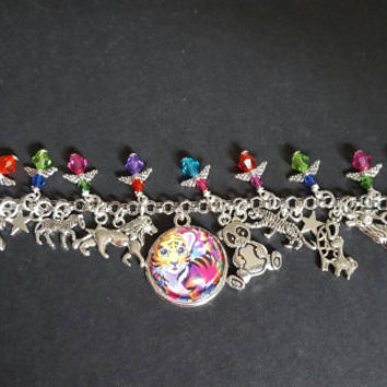 Lisa Frank animal inspired charm bracelet