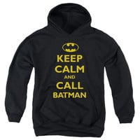 Batman Men's  Call Batman Hooded Sweatshirt Black Rockabilia